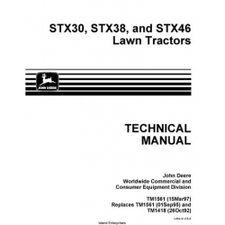 john deere stx38 black deck owners manual