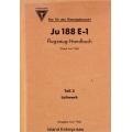 Junkers Ju 188 E-1 Flugzeug Handbuch Teil 3 1943 $2.95