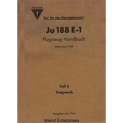 Junkers Ju 188 E-1 Teil 5 Tragwerk Flugzeug Handbuch $4.95