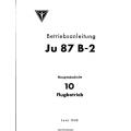 Junkers Ju 87 B-2 Betriebsanleitung Hauptabschnitt 10 Fugbetrieb 1940 $2.95