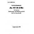 Junkers Ju 87 D-5 Bo Entwurf einer Bedienungs- und Beladevorschrift für die Abwurfwaffe