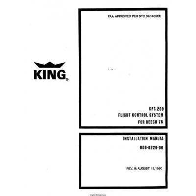 king kfc 200 installation manual