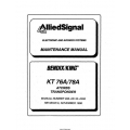 Bendix King KT 76A/78A ATCRBS Transponder Maintenance and Installation Manual 006-05413-0006 & 006-00143-0006 $29.95