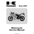 Kawasaki Ninja 250R Motorcycle Part No.99924-1391-01 Service Manual 2007 - 2008 $13.95