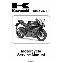Kawasaki Ninja ZX-6R Motorcycle Part No.99924-1417-01 Service Manual 2008 - 2009 $13.95