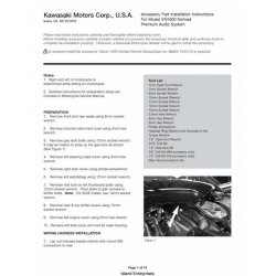 Kawasaki VN1600 Nomad Accesory Part Installation Instructions 2007 $4.95