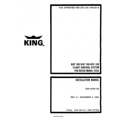 King KAP 100 KAP 150 KFC 150 Beech F33A Flight Control