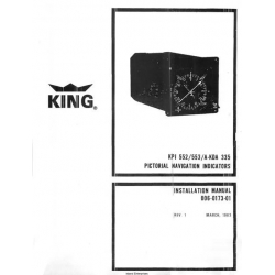 King KPI 552/553/A-KDA 335 Pictorial Navigation Indicators Installation Manual 006-0173-01 $29.95