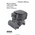 Kohler Aegis LV625, LV675, LV680 Liquid Cooled Vertical Crankshaft Owner's Manual