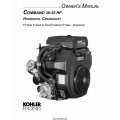 Kohler Command 20-25 HP Horizontal Crankshaft LP Gas Fueled Owner's Manual $4.95
