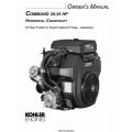 Kohler Command 20-25 HP Horizontal Crankshaft LP Gas Fueled Owner's Manual $4.95