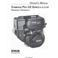 Kohler Command Pro CS Series 4-12.75 HP Horizontal Crankshaft Owner's Manual $4.95