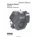 Kohler Command Series CH11-16 Horizontal Crankshaft Owner's Manual $4.95