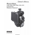 Kohler Aegis LH630, LH640, LH685, LH690, LH755, LH775 Horizontal Crankshaft Owner's Manual