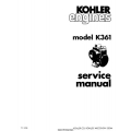 Kohler K361 Series Service Manual 1969 - 1978