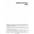 Kohler K582 Series Owner's Manual