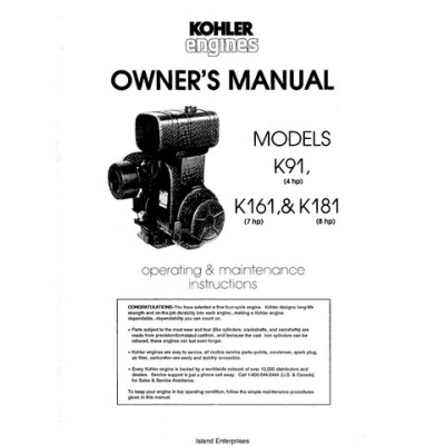 Kohler k91 4hp k161 7hp k181 8hp owners manual 495 publicscrutiny Gallery