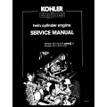 Kohler KT17, KT19 Series II & KT21 Twin Cylinder Engine Service Manual TP-2043-A