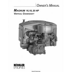 Kohler Magnum 16, 18, 20 HP Vertical Crankshaft Owner's Manual $4.95