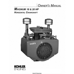 Kohler Magnum 18 & 20 HP Horizontal Crankshaft Owner's Manual $4.95