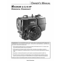 Kohler Magnum 8, 12, 16 HP Horizontal Crankshaft Owner's Manual $4.95