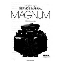 Kohler Magnum M18 & M20 Twin Cylinder Engine Service Manual 1985 - 1995 $9.95
