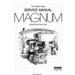 Kohler Magnum MV16, MV18, MV20 Twin Cylinder Engine Service Manual 1986 - 1988 $9.95