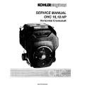 Kohler OHC 16, 18 HP Horizontal Crankshaft Service Manual 1996 - 2000 $9.95