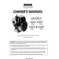 Kohler Series Models K241 10hp, K301 12hp, K321 14hp, K341 16hp Owner's Manual