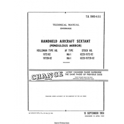 Kollsman Handheld Aircraft Sextant T.O. 5N10-4-2-3 Overhaul and Technical Manual $4.95