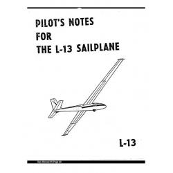 L-13 Sailplane Pilot's Notes