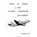 Lockheed L-188 Electra Flight Training Syllabus 1968 $4.95