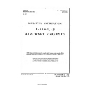 Ranger L-440-1 & L-440-3 Aircraft Engines Operating Instructions 1943 - 1944 $4.95