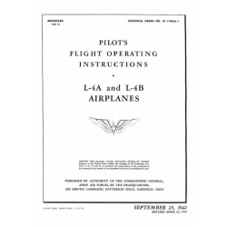 Piper J-3 Cub Military L-4A & L-4B Pilot's Flight Operating Instructions $2.95