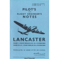 Avro Lancaster Mark I, III and X Four Merlin Engines Pilots & Flight Engineers Notes $4.95