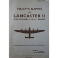 Avro Lancaster II Four Hercules VI or XVI Engines Pilot's Notes $4.95