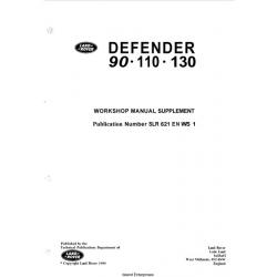 Land Rover Defender 90-110-130 Workshop Manual Supplement 1990 $4.95