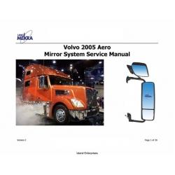 Lang Mekra Volvo Aero Mirror System Service Manual 2005 $5.95