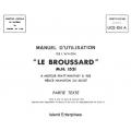 Le Broussard M.H. 1521 UCE-104 A Manuel d'Utilization 1971 $5.95