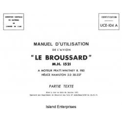 Le Broussard M.H. 1521 UCE-104 A Manuel d'Utilization 1971