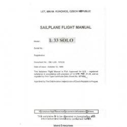 Let L33 Solo Sailplane Flight Manual/POH 1993