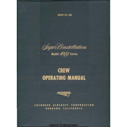 Lockheed 1049 Series Super Constellation Airplanes Crew Operating Manual $9.95