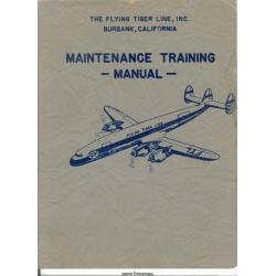 Lockheed 1049H Maintenance Training Manual 1957 $13.95