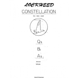 Lockheed Constellation 749- 1049- 1049C Question and Answers $4.95