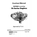 Lycoming 76 Series Engines Overhaul Manual 1996 Part No.60294-9 $13.95