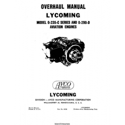 Lycoming O-235-C Series and O-290-D Aviation Engines Overhaul Manual $13.95