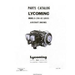Lycoming O-290-D2 Series Aircraft Engines Parts Catalog 1960 $9.95