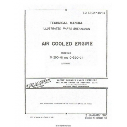 Lycoming O-290-GI and O-290-G4 Air Cooled Engine Parts Breakdown 1963 $9.95