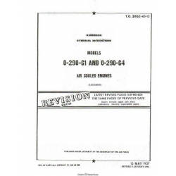 Lycoming O-290-GI and O-290-G4 Air Cooled Engine Handbook Overhaul Instructions 1957 - 1962 $13.95