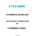 Lycoming O-290 GPU Conversion Information to Lycoming O-290D $13.95